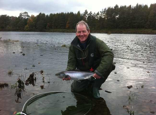 Salmon Fishing In The Autumn On The River Tay